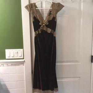 Betsey Johnson Velvet and Lace dress